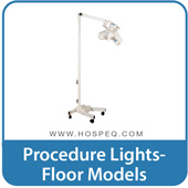 Medical lights for medical exam, procedure and surgery