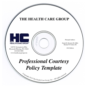 Professional Courtesy Policy Template Forms on CD