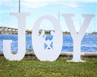 """Joy"" with Manger (Large) Yard Decor"