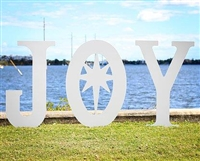 """Joy"" with Star (Large) Yard Decor"