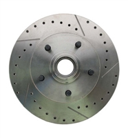 5514RX 1964-1972 GM A, F, X Body & 1955-1970 Full Size Chevy Drilled/Slotted Rotor (Drivers Side)