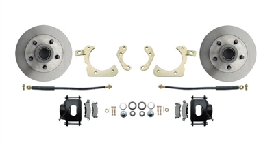 DBK5558B 1955-1958 GM Full Size Standard Disc Brake Conversion Kit Black Calipers (Impala, Bel Air, Biscayne)