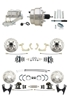 "DBK55581012FSLX-GMFS1-331 - 1955-1958 GM Full Size Disc Brake Kit Drilled/Slotted Rotors (Impala, Bel Air, Biscayne) & 8"" Dual Chrome Booster Conversion Kit w/ Chrome Master Cylinder Left Mount Disc/ Disc Proportioning Valve Kit"