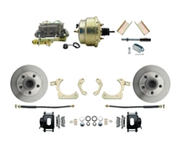 "DBK5558B-GMFS1-204-1955-1958 GM Full Size Disc Brake Kit w/ 8"" Dual Zinc Booster Conversion Kit (Impala, Bel Air, Biscayne)"