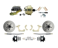 "DBK5558B-GMFS1-205-1955-1958 GM Full Size Disc Brake Kit w/ 8"" Dual Zinc Booster Conversion Kit (Impala, Bel Air, Biscayne)"