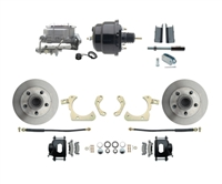"DBK5558B-GMFS1-708-1955-1958 GM Full Size Disc Brake Kit w/ 8"" Dual Powder Coated / Aluminum Booster Conversion Kit (Impala, Bel Air, Biscayne)"