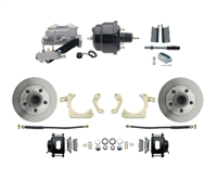 "DBK5558B-GMFS1-709-1955-1958 GM Full Size Disc Brake Kit w/ 8"" Dual Powder Coated / Aluminum Booster Conversion Kit (Impala, Bel Air, Biscayne)"