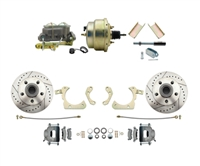 "DBK5558LX-GMFS1-204-1955-1958 GM Full Size Disc Brake Kit w/ 8"" Dual Zinc Booster Conversion Kit (Impala, Bel Air, Biscayne)"