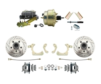 "DBK5558LX-GMFS1-205-1955-1958 GM Full Size Disc Brake Kit w/ 8"" Dual Zinc Booster Conversion Kit (Impala, Bel Air, Biscayne)"