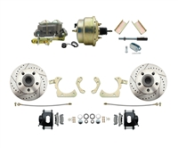 "DBK5558LXB-GMFS1-204-1955-1958 GM Full Size Disc Brake Kit w/ 8"" Dual Zinc Booster Conversion Kit (Impala, Bel Air, Biscayne)"