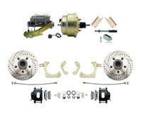 "DBK5558LXB-GMFS1-205-1955-1958 GM Full Size Disc Brake Kit w/ 8"" Dual Zinc Booster Conversion Kit (Impala, Bel Air, Biscayne)"
