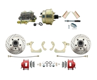 "DBK5558LXR-GMFS1-204-1955-1958 GM Full Size Disc Brake Kit w/ 8"" Dual Zinc Booster Conversion Kit (Impala, Bel Air, Biscayne)"