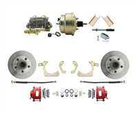 "DBK5558R-GMFS1-204-1955-1958 GM Full Size Disc Brake Kit w/ 8"" Dual Zinc Booster Conversion Kit (Impala, Bel Air, Biscayne)"