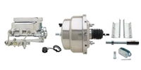 "GMFS1-308 1955-1958 GM Full Size 8"" Dual Chrome Power Brake Booster Conversion Kit"