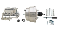 "GMFS1-310 1955-1958 GM Full Size 8"" Dual Chrome Power Brake Booster Conversion Kit"