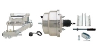 "GMFS1-313 1955-1958 GM Full Size 8"" Dual Stainless Steel Power Brake Booster Conversion Kit"
