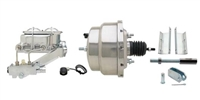 "GMFS1-315 1955-1958 GM Full Size 8"" Dual Stainless Steel Power Brake Booster Conversion Kit"