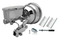 "GMFS1-380 1955-1958 GM Full Size 8"" Dual Chrome Oval Master Cylinder Kit"