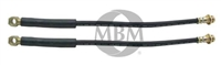 "Front Rubber Brake Hose - 7/16"" Diameter"