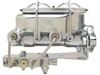 MCK114DBM - Universal Chrome Dual Bail Master Cylinder w/ Bottom Mount Disc/Disc Proportioning Valve