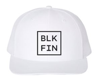 BLK FIN Patch Hat - WHITE