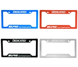 SURE NameTag™ Billet Aluminum License Plate Frame