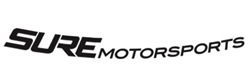 "SURE Motorsports Curved Windshield Vinyl Decal (40"" x 3.5"")"