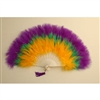 Marabou Fan - Mardi Gras Colors