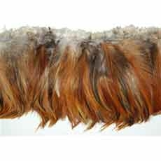Coque Fringe- Natural Hackle