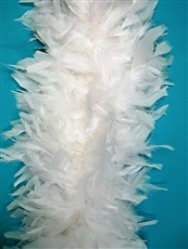 White Chandelle Boa - Heavy