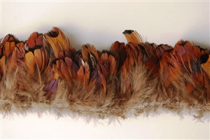 Pheasant Plumage Fringe - Red Heart