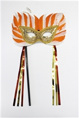 Feather Mask with stick
