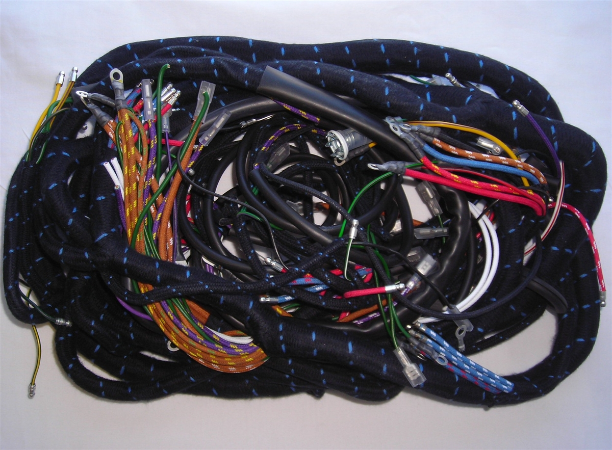 Main Wiring Harness for Mk2 Jaguar with Manual Gearbox (162) on pet harness, engine harness, pony harness, obd0 to obd1 conversion harness, safety harness, suspension harness, multicore cable, direct-buried cable, cable carrier, cable harness, amp bypass harness, dog harness, radio harness, maxi-seal harness, cable reel, electrical harness, alpine stereo harness, cable management, fall protection harness, battery harness, nakamichi harness, oxygen sensor extension harness, cable dressing,