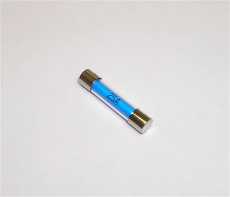 25 Amp Glass Fuse