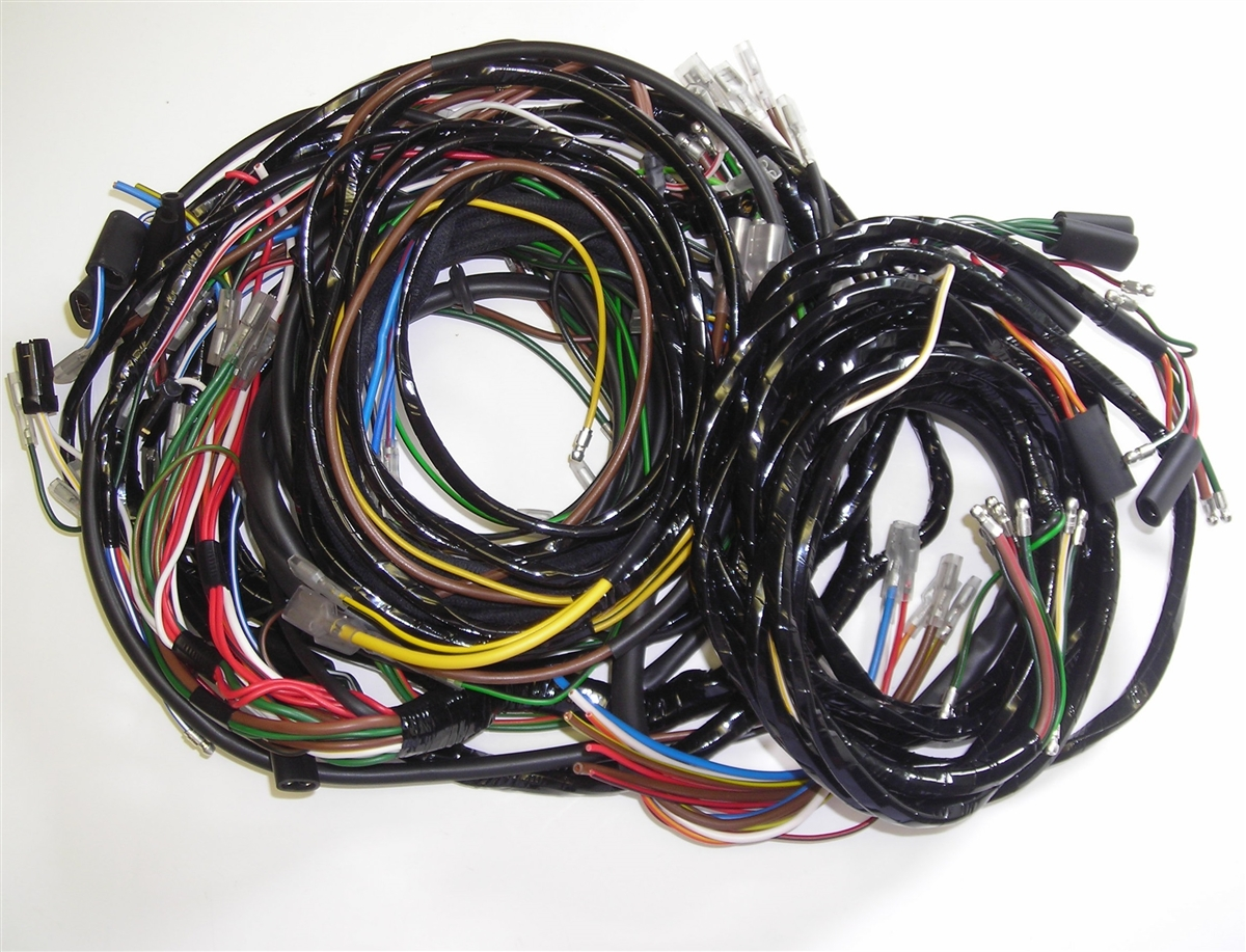 land rover series 2 2a lightweights main wiring harness rh britishwiring com land rover defender wiring harness land rover lr2 trailer wiring harness
