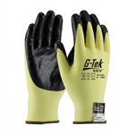09-K1450/XL G-Tek® KEV™ Seamless Knit Kevlar®/Elastane Glove with Nitrile Coated Smooth Grip on Palm & Fingertips - Extra Large Size, PIP#09-K1450/XL, G-Tek #09-K1450/XL Gloves