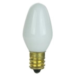 7C7/CERAMIC WHITE/130V 7 WATT CERAMIC WHITE C7 E12 BASE, 7C7/WHT/130V, 7C7/W
