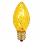7C7/TRANSPARENT YELLOW/130V E12 BASE,7C7TY,7C7/TY,7C7 TRANSPARENT YELLOW,7C7TY