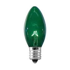7C7/TRANSPARENT GREEN/130V E12 Base,7C7TG,7C7/TG,7C7 TRANSPARENT GREEN,7C7TG
