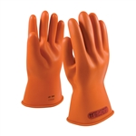 NOVAX® Rubber Electrical Insulating Class 0 Gloves, 11 Inch, Size 8, Novax #147-0-11/8, PIP#147-0-11/8, Size 8 Orange NOVAX® Rubber Gloves