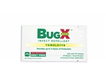 BugX DEET FREE Insect Repellent Wipes, 50/box, First Aid Only #18-850, BugX #18-850, DEET Free insect wipes