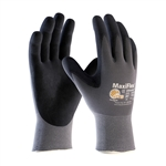 34-874/XL MaxiFlex® Ultimate, 15G Gray Nylon Shell, Black Nitrile MicroFoam Grip Extra Large Size, PIP# 34-874-XL, 34-874/XL Gloves, 34-874/XL Work Gloves