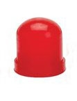 Red Colored Bulb Cover For T-1 Wire Terminal Bulbs, autometer covers, silicone boots, colored bulb covers, color filter caps