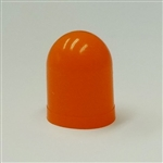 Orange Colored Bulb Cover For T-1 Wire Terminal Bulbs, autometer covers, silicone boots, colored bulb covers, color filter caps