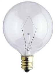 "25G16-1/2CL/130V/2M 2"" CLEAR GLOBE E12 BASE, G16CL25, 25 WATT G16-1/2 CLEAR GLOBE E12 BASE 130 VOLT, 25GC-L, 25G16.5C/4M, 25G16-1/2/C/4M"