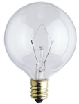 "60G16-1/2CL/130V/2M 2"" CLEAR GLOBE E12 BASE, G16CL60, 60 WATT G16-1/2 CLEAR GLOBE E12 BASE 130 VOLT, 60GC, 60G16.5C/BL"