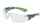Bolle 40256 Rush + Safety Glasses - Clear Platinum TPR Rimless - Bolle 40256 Rush + Safety Glasses