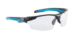 Bolle 40301 TRYON Safety Glasses, Bolle 40301 TRYON Safety Glasses - PC AS/AF Black PC + Blue TPR