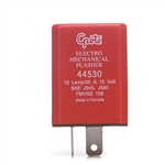 Grote 44530 Flasher, 12-Lamp Electromechanical Flasher 2 Terminal, CEC Industries# EF33H, Peterson# B570, 571, Primatronics# PT5454, Trucklite# 173, Grote#44530