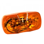Grote 46793 CLR/MKR Lamp, Amber 2-Bulb, Square Corner, Optronics# MC42ABP, Peterson# 138A, Trucklite# 138A, 1211A, 1213A, Grote#46793
